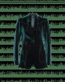 MOTIVE: Green laser cut tech-flocked jersey jacket