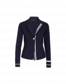 REMEMBER: Giacca-cardigan in maglia blu navy