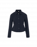 COMPETE: Short fitted jacket in navy tech jersey
