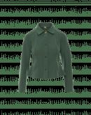 COMPETE: Kurze Jacke aus grünem technischen Trikot