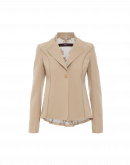 AD-LIB: Stand collar jacket in taupe technical twill