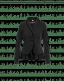 GESTURE: Giacca nera in crêpe e raso con collo a scialle