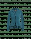 GESTURE: Giacca blu pavone in crêpe e raso