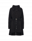 PARAGON: Lightweight black hooded parka