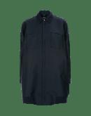 DEFINITIVE: Navy tech twill longer length bomber jacket
