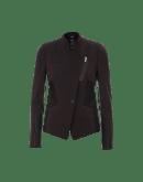 "OBLIQUE: Giacca in jersey ""scuba"" color borgogna"