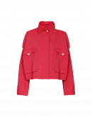 "SURGE: Wide jacket in red tech ""matelassé"" jersey"
