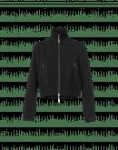 DIVISIVE: Giacca nera in crêpe tecnico con zip