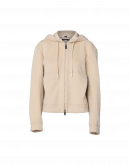 COLLECTIVE: Luxe hoodie jacket in powder pink tech velour