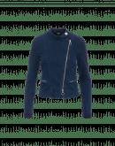 GLARE: Tech-denim jacket with biker details
