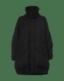 ASTUTE: Cocoon shape funnel neck coat