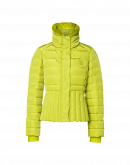 DAYBREAK: Chartreuse green down-filled jacket