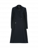 FOUNDER: Navy A-line tech-herringbone coat