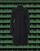 EMBRACE: Sack-back coat in tech check and taffeta