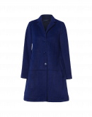 "FLATTERY: Electric blue technical ""teddy bear"" coat"