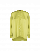 NICETY: Bluse aus Techno-Satin in Chartreuse-Grün