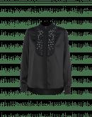 VIGIL: Camicia in raso tecnico nero con pettorina
