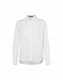 VIGIL: Fly front shirt with pleated tuxedo bib