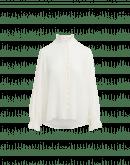 QUIZ: Camicia con rouche in georgette tecnico avorio