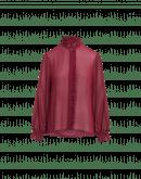 QUIZ: Camicia con rouche in georgette tecnico rosso porpora