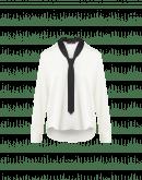 TEASER: Camicia in raso con collo a cravatta da uomo