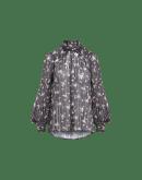 APPLAUD: Camicia in chiffon tecnico a fiori e righe