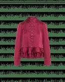 DARLING: Camicia rosso bordeaux con peplo con rouche