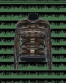 BELIEVE: Blurred stripes tech-knit turtleneck