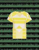 SYNERGY: T-Shirt aus Techno-Strickstoff mit geometrischen Pattern