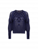 MODERNISM: V-neck sweater with split cuffs