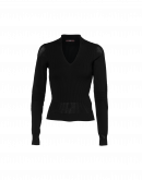 DEFINE: Skinny rib sweater with stand collar