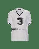 BELONG: T-shirt bianca in rete sportiva