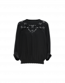 CHANT: Dolman sleeve top in black