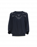 CHANT: Dolman sleeve top in navy