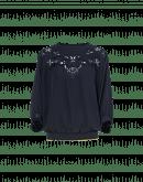 CHANT: Pullover mit Spitzeneinsatz und Fledermausärmeln