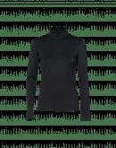 LOGICAL: Black stretch jersey turtleneck