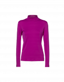 LOGICAL: Fuchsia stretch jersey turtleneck