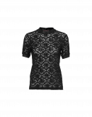 SOLACE: Black tech lace t-shirt