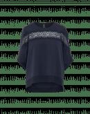 RUMOUR: Top a maniche corte in raso tecnico blu navy