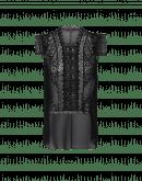 FINESSE: Black tech lace georgette top