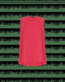 CUE: Rotes, ärmelloses Top mit Tupfen aus Techno-Satin
