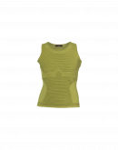 LEFT OUT: Canotta in maglia tecnica verde chartreuse