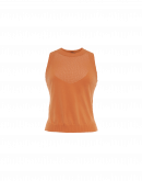 POSITIVE: Seamless tank in orange tech knit