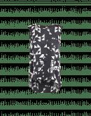 CUE: Canotta svasata in raso tecnico con stampa geometrica astratta bianca e nera