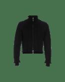 OVERTONE: Cardigan nero con zip frontale