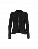 CONFIDE: Black zip front cardigan jacket