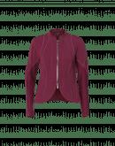 CONFIDE: Giacca con pannelli multipli in jersey color borgogna