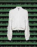 SHOW-OFF: Cardigan bianco avorio con motivo a rilievo