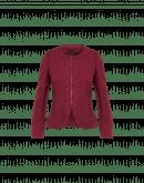 MAKE SENSE: Giacca bordeaux in jersey geometrico goffrato elasticizzato