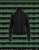 OVERTONE: Cardigan a collo alto nero con zip frontale